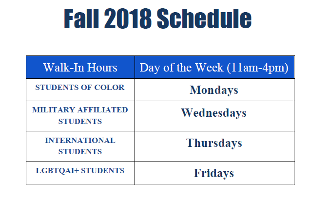 Diverse Walk In Hours Schedule