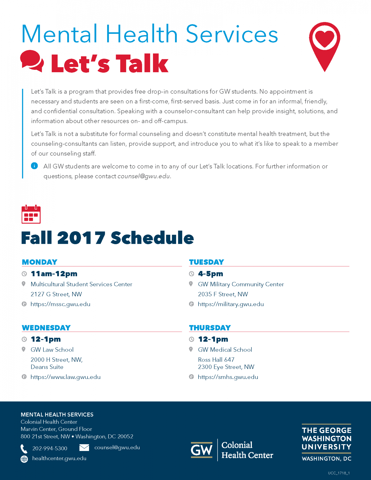 Let's Talk | Colonial Health Center | Division of Student Affairs ...